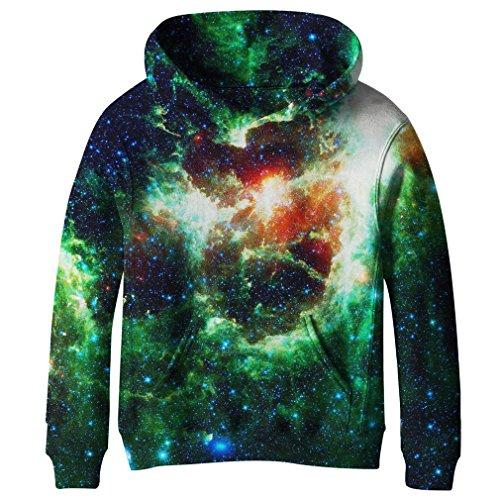 SAYM Teen Boys' Galaxy Fleece Sweatshirts Pocket Pullover Hoodies 4-16Y NO21 M