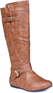 Women's Shelly Wide Width, Wide Calf Stitched Pannel Tall Boots with Pyramid Studs