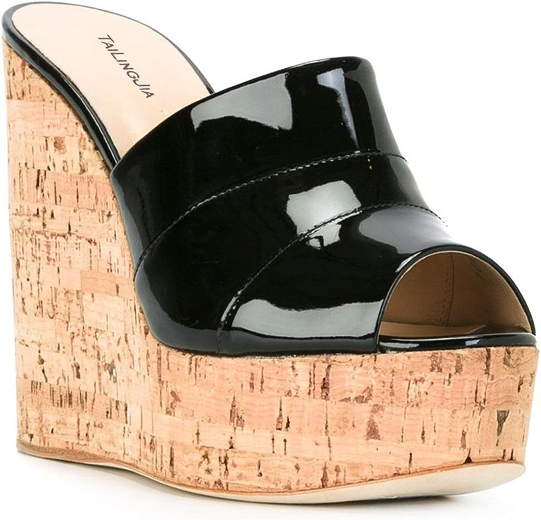 L@YC Damen Sandalen Slope Schuhe Größe Large Größe Party Party Prom Kleid Handmade  nicht zu vermissen!