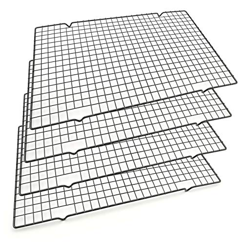 Baking Rack Cooling Rack,Size 16'x 10' - Cool Cookies Cakes Breads - Heavy Duty Commercial Quality Wire Rack (4 pack)