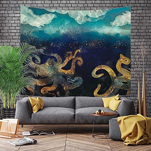 KHKJ Montaña Amanecer Pintura Tapiz Flor Colgante de Pared habitación Cielo Alfombra Dormitorio tapices Arte decoración del hogar Accesorios A14 230x180cm
