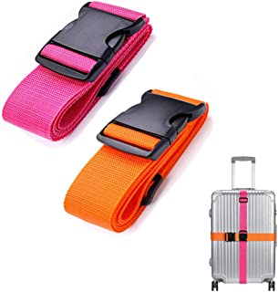 LSYCG Luggage Straps TSA Approved, Heavy Duty Luggage Belts 2 Pack, Adjustable 2 Inches Luggage Strap Belt with Quick-Rele...