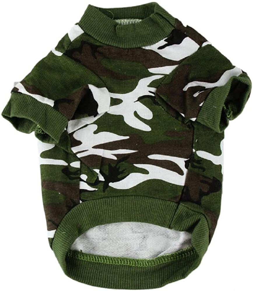 Howstar Pet Clothes online shopping Dog Camouflage T Camo Shirt Puppy Max 72% OFF Appar Tee