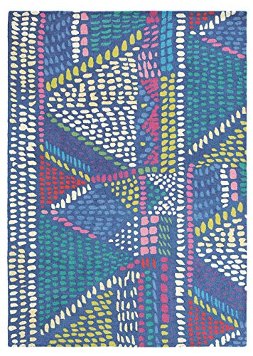 Bluebellgray - Palais 18408 Teppich - 250x350 cm - Rechteckig - Kurzflor - Retro - Mehrfarbig - Für Wohnzimmer, Schlafzimmer, Esszimmer