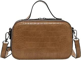 Crossbody Bag, Women's Vintage Lightweight Crocodile Shoulder Bag Joker Messenger Bag Solid Color Bag