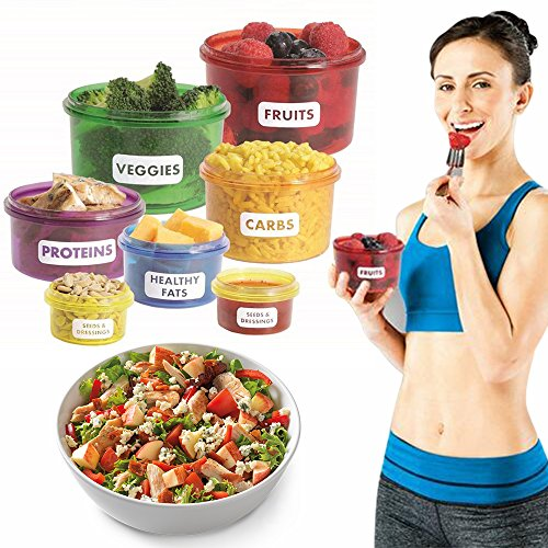 CONNECTWIDE Plastic Food Storage Containers Easy Way to Lose Weight Using Portion Control, Multicolour