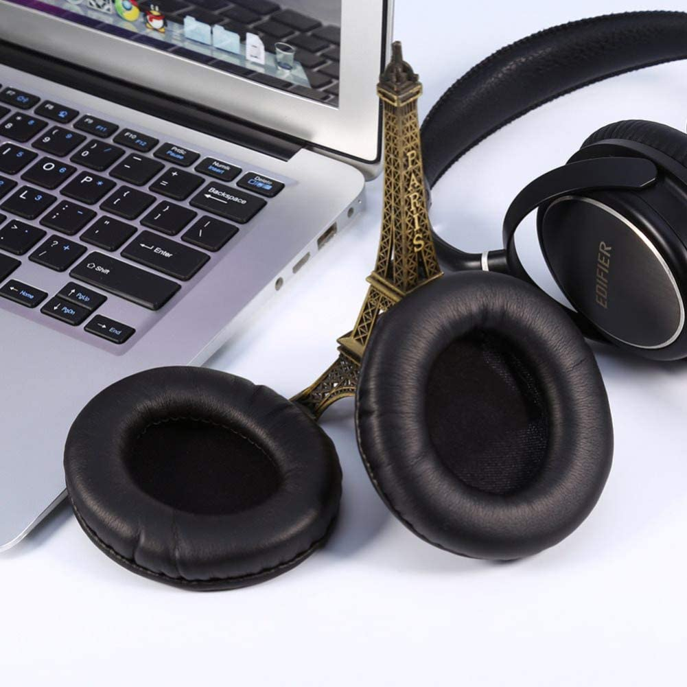 1Pair wire Headphone Ear Pads wireless Bluetooth earphone Headphone Ear Pads Round PU Leather Ear Cushions for 50-105mm 85MM