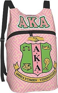 AKA Drawstring Backpack Water Resistant String Bag Sports Sackpack Gym Sack With Side Pocket For Men Women Camping Travel