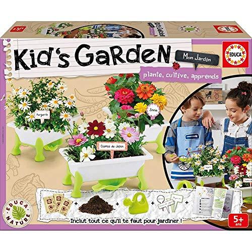 Educa Borrás- Kid's Garden Flores: Margueritas, Zinias, Cos