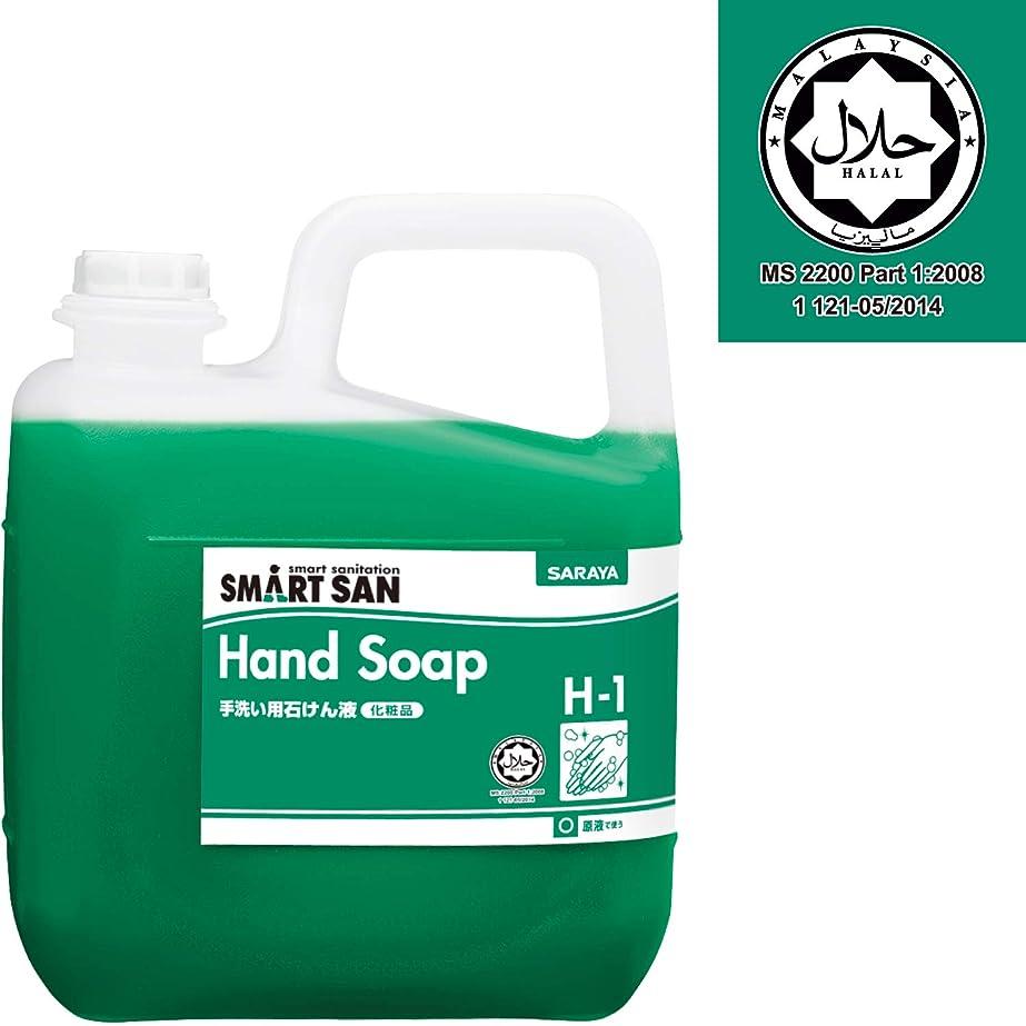 猛烈な限られたパラダイスサラヤ 手洗い用石けん液 【H-1】5kg ハラール 認証 詰替え用ノズル付き 無香料