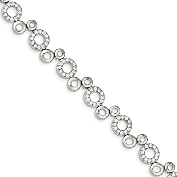 925 Sterling Silver Cubic Zirconia Cz Bracelet 7.5 Inch Fine Jewelry For Women Gifts For Her