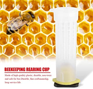 Nikou Beekeeping Rearing Cup Kit - Roller Cages Bee Queen Cages Roller Beekeeper Tool Equipment (Size : 50PCS)