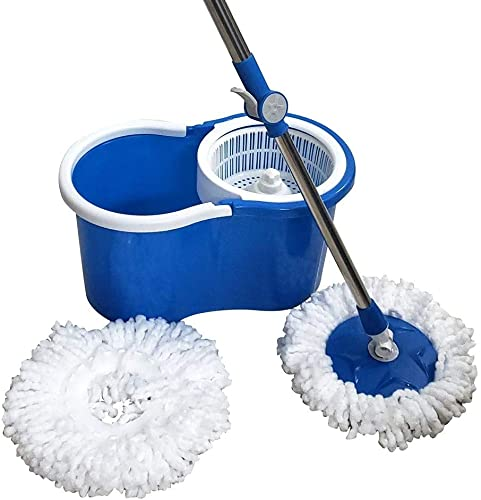Freshome Magic Spin Mop with 1 Extra Microfiber Refill Blue