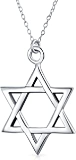 Delicate Traditional Religious Magen Judaic Jewish Hanukkah Intertwined Star Of David Pendant Necklace For Women Teen Bat ...
