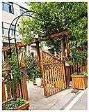Gnova 0.8m Enrejado Arco de Rosas Trepadoras,pérgola de decoración jardín,Muy Adecuado para Patio Trasero y Espacio al Aire Libre