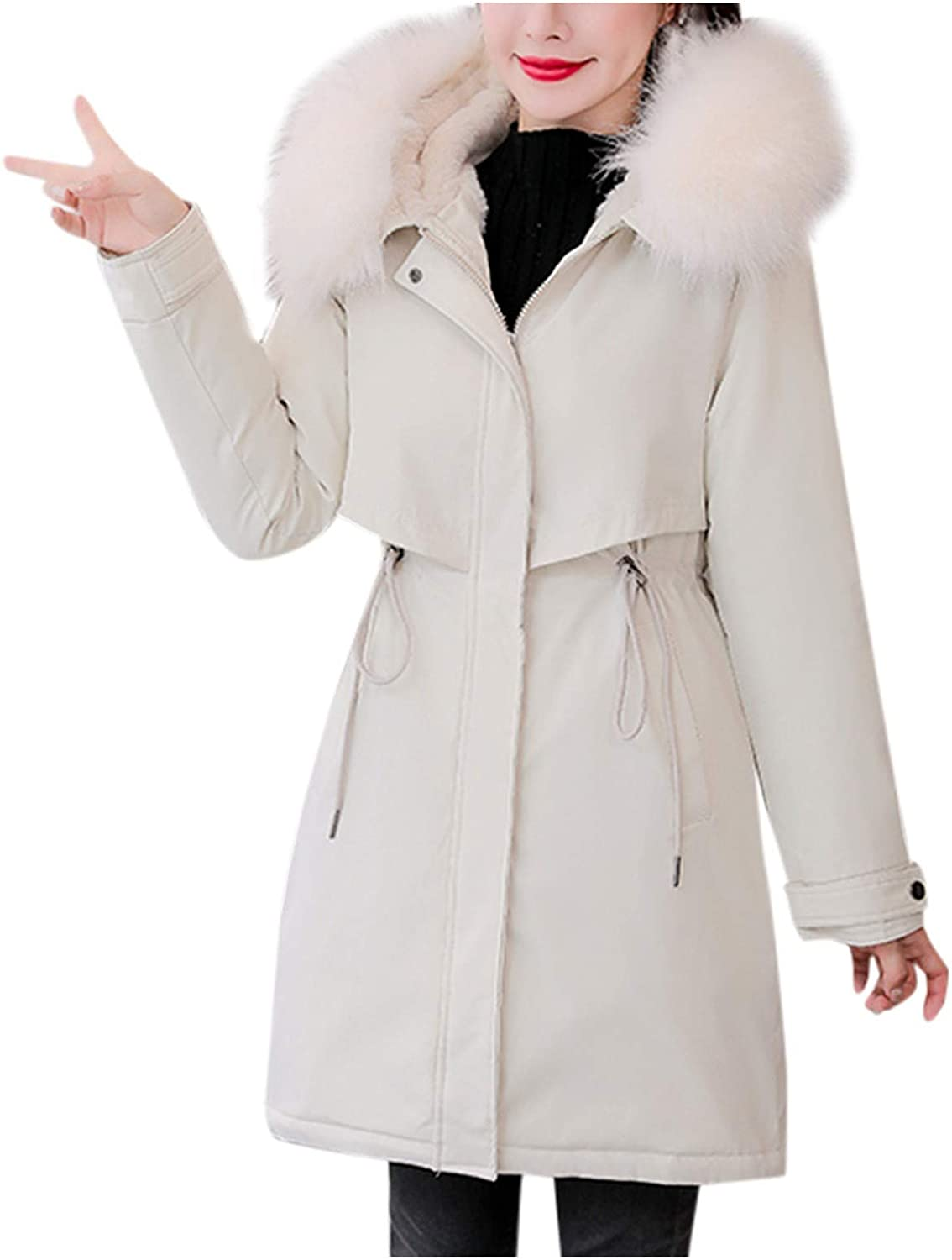 HGWXX7 Womens Outerwear Fashion Zip Up Jacket Purchase Fu Philadelphia Mall with Faux Parka