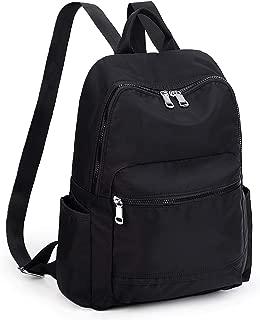 UTO Backpack for Women Men Water Resistant Lightweight Travel College School Bookbag Unisex Shoulder Bag Black