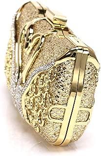 Kekelin Ladies Elegant Metal Inlay Dinner Handbag Bride Wedding Fashion Wallet (Gold)