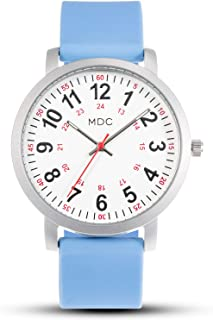 MDC Nurse Watch for Medical Students,Doctors,Nursing Watches for Women with Second Hand, Military Time, Waterproof, Silicone Band