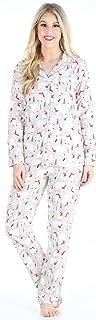 Image of Adorable Polar Bear Flannel Pajamas for Women
