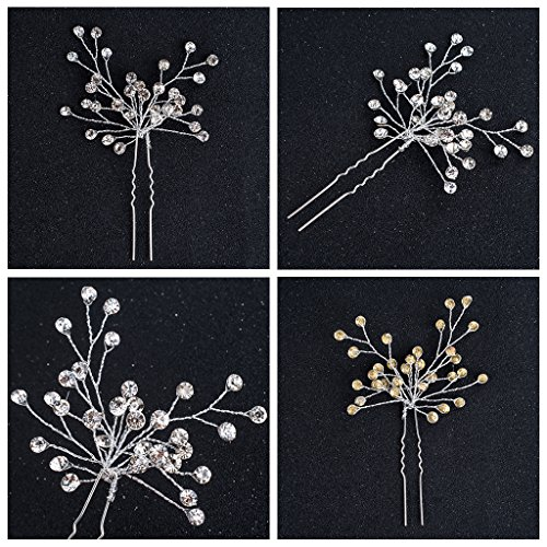 niumanery Bride Hairpin Comb Crystal Wedding Jewelry Fashion Women Bridal Hair Accessories