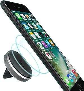 Trianium Aluminum Magnetic Air Vent Car Phone Mount Compatible with iPhone Xs Max XR iPhone X 8 7 6s 6 Plus SE, Galaxy S9 S8 S7 Edge, Note 9,LG G7 thinQ,G6 G5,Pixel,Nexus 6P 6X,Pixel 2 XL-Space Grey