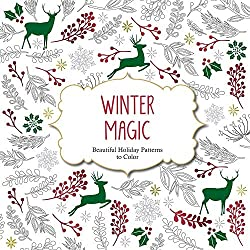 Winter Magic Christmas Holiday Coloring Book