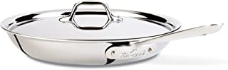 All-Clad 41126 Stainless Steel Fry Pan with Lid, Dishwasher Safe , Tri-Ply Bonded, 12 Inch Pan, Silver (Renewed)