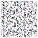 Papel pintado adhesivo Pastel Flower Tendrils Mural cuadrado, Tamaño:288 x 288cm