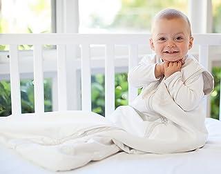 Bubbaroo 100% Natural Organic Cotton & Padded with Australian Wool Platinum Joey Swag Baby Sleeping Bag 2.5TOG 0-6 Months - Mocha Dot