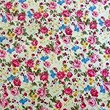 0,5m Wachstuch kleine Rosen pink 1,1m breit Meterware