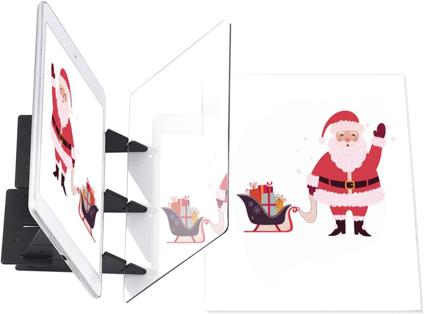 Bisofice mesa de luz para dibujo,Tablero de rastreo óptico portátil, almohadilla de copia, panel, manualidades, pintura de anime, arte, herramienta de dibujo fácil, molde de base cero, regalo