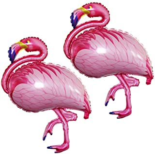 (Flamingos Balloons) - GOER 110cm Flamingos Foil Balloons,2 Pcs Giant Helium Balloons for Flamingos Theme Birthday Party D...