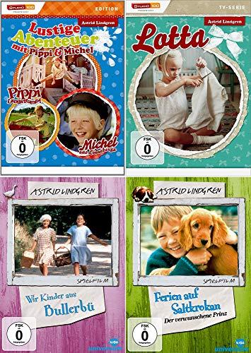 Astrid Lindgren: Pippi Langstrumpf + Michel aus Lönneberga + Wir Kinder aus Bullerbü + Lotta TV-Serie + Ferien auf Saltrokan: Der verwunsche Prinz