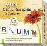 Verlag an der Ruhr GmbH ABC - Gedächtnisspiele für Senioren: Extragroße Bild- und Buchstabenkarten zur geistigen Aktivierung