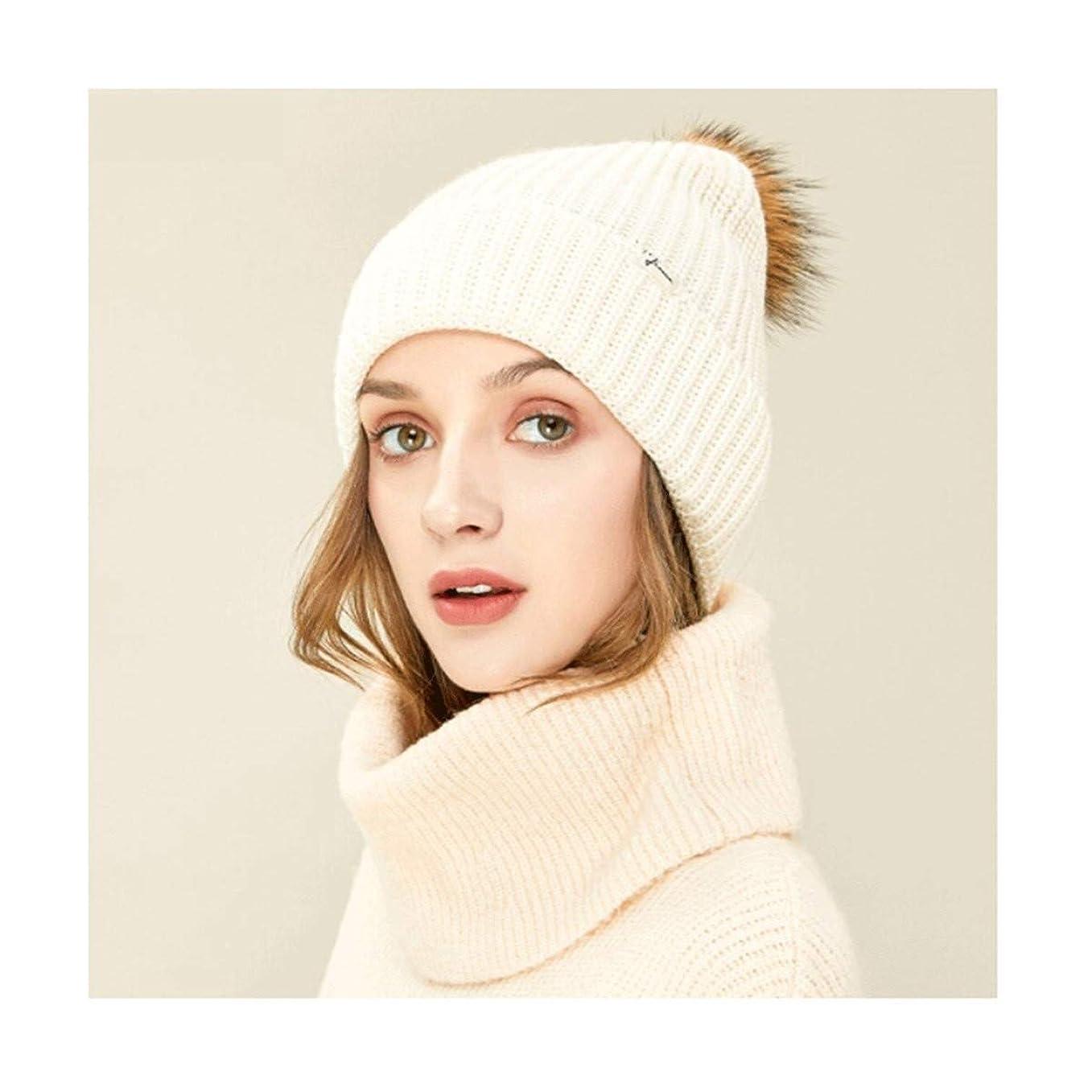 ファンタジー反発するシャイニングKYK ハット、レディース秋と冬の防風イヤーマフ/暖かい帽子/ニット帽子(4色オプション) (Color : Beige)