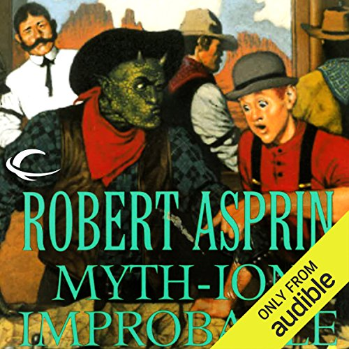 Myth-ion Improbable audiobook cover art