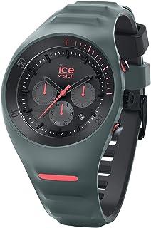 Ice-Watch - P. Leclercq Slate - Montre Verte pour Homme avec Bracelet en Silicone - Chrono - 014947 (Large)
