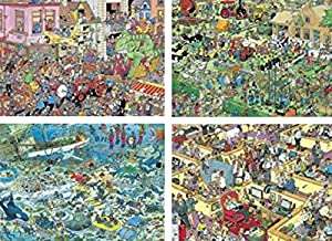 Ceaco 4-in-1 Multi-Pack Jan Van Haasteren Crowd Pleasers Jigsaw Puzzle