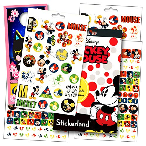 Disney Mickey Mouse Stickers with Specialty Cartoon Kitten Door Hanger - 295 Mickey Reward Stickers