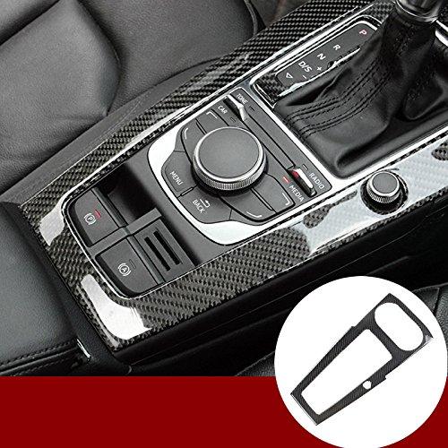 wroadavee Carbon Fiber Console Gear Shift Box Frame Cover Trim for Audi A3 S3 2014-2018