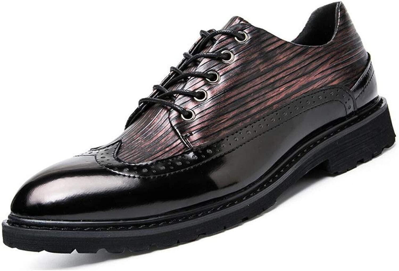 FuweiEncore Herrenschuhe, Leder Winter Herbst Formale Schuhe, Business Schuhe, Atmungsaktive Schnürung für Hochzeit Casual Office  Karriere Party  Abend (Farbe   On, Größe   44)