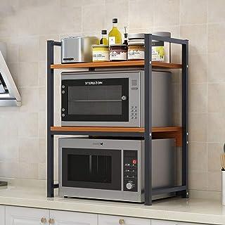Rangement Cuisine Organisateur étagère Support Four solide étagères en métal 3 niveaux Cuisine Micro-ondes Support de rang...
