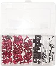 ZXMOTO Motorcycle Aluminium Fairing Bolt Kit (Pink)