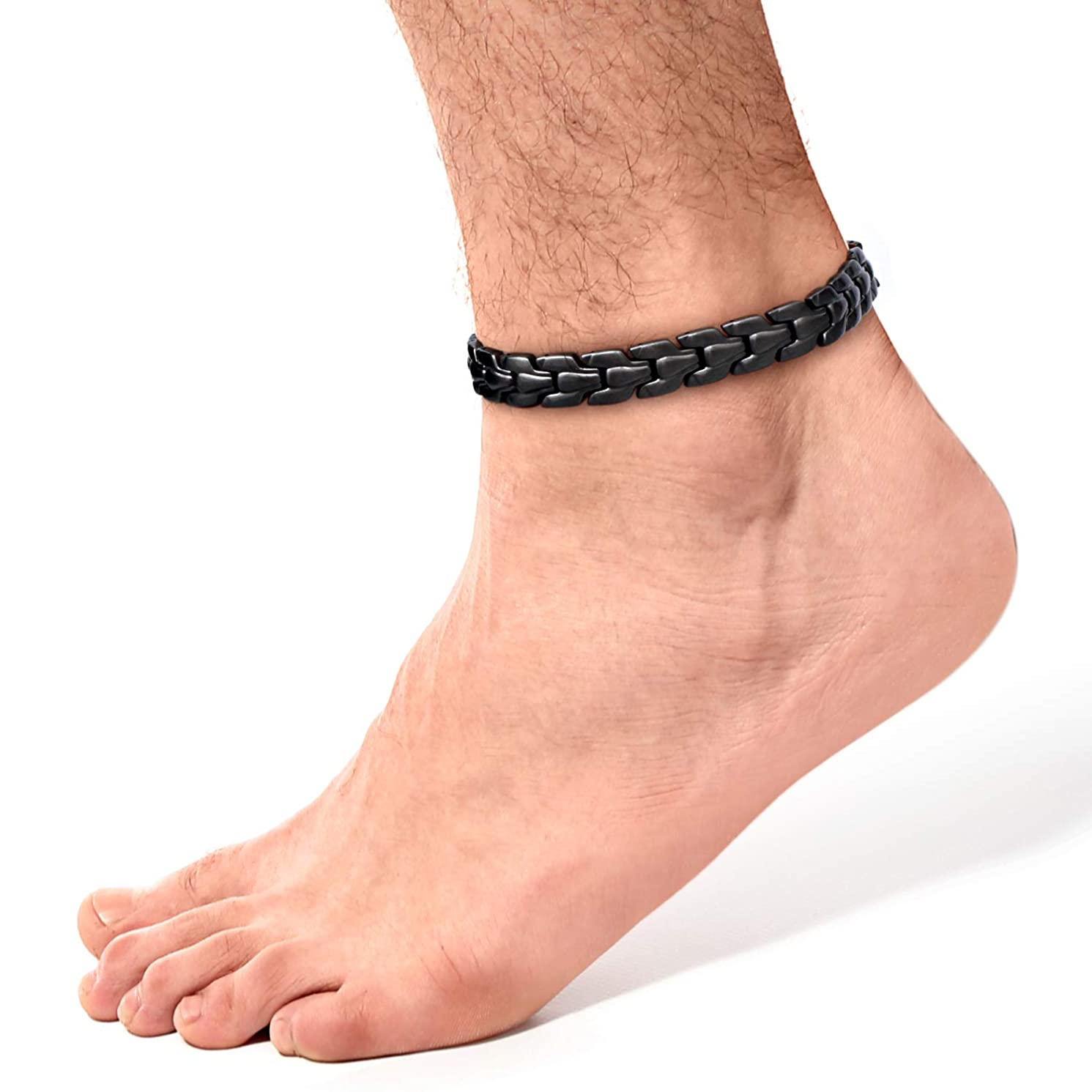 Rainso Pure Copper Magnetic Therapy Anklets for Men Pain Relief for Arthritis Adjustable