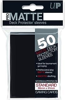 【ブラック】通常サイズ 非光沢プロマット・デッキプロテクターハードスリーブ 50枚入り [91×66mm]
