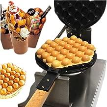 180° Rotary Waffle Maker Iron, 30pcs Egg Cake Maker Machine Electric Non-Stick Oven Puff Bread Maker Stainless Steel, 1300W Electric Waffle Machine with Temperature Control