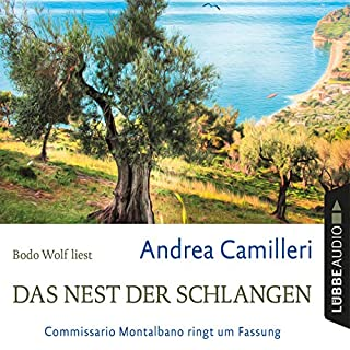 Das Nest der Schlangen     Commissario Montalbano ringt um Fassung              By:                                                                                                                                 Andrea Camilleri                               Narrated by:                                                                                                                                 Bodo Wolf                      Length: 4 hrs and 54 mins     Not rated yet     Overall 0.0