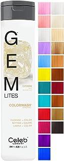 CELEB LUXURY セレブの高級宝石LitesのColorwash:ペールブロンドグロ、色堆積シャンプー、10羽の伝統的な色は、1クイックウォッシュでフェードを停止し、虐待フリー、クレンズ+カラー、硫酸塩フリー、100%ビーガン 240ミ...
