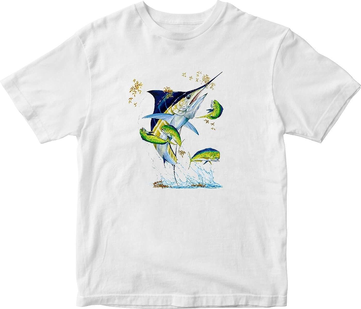 Jumping Sailfish Adult Printed T-Shirt